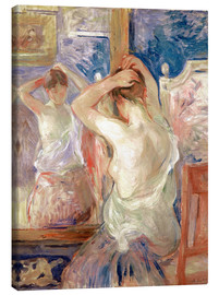 Canvas print  In front of the mirror - Berthe Morisot