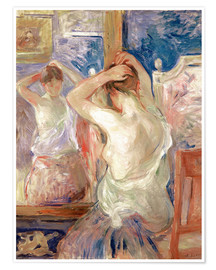Premium poster  In front of the mirror - Berthe Morisot
