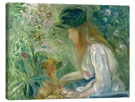 Canvas  Girl with Dog - Berthe Morisot