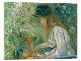 Foam board print  Girl with Dog - Berthe Morisot
