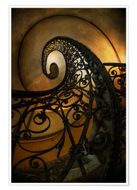 Poster Old spiral staircase