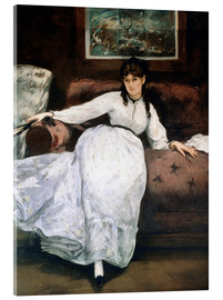 Acrylic glass  The rest or Portrait of Berthe Morisot - Edouard Manet