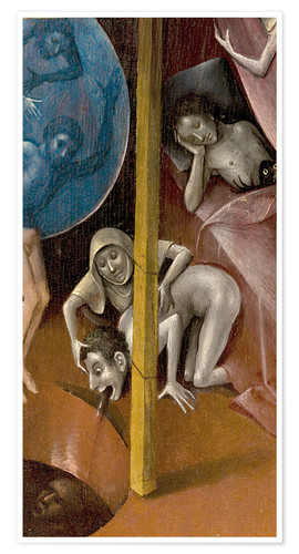 Premium poster Garden of Earthly Delights, Hell (detail)