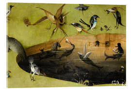 Acrylic print  Garden of Earthly Delights, Paradise (detail) - Hieronymus Bosch