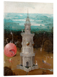 Acrylic print  The Last Judgement, the earthly paradise (Detail) - Hieronymus Bosch