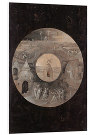 Foam board print  The divine sun face with the passion of Christ - Hieronymus Bosch