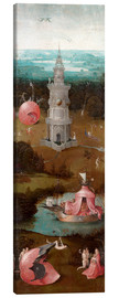 Canvas print  The Last Judgement, the earthly paradise - Hieronymus Bosch