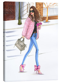 Canvas  Pink fashionistas - Rongrong DeVoe