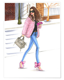 Poster  Pink fashionistas - Rongrong DeVoe