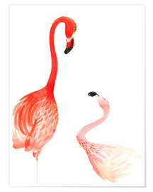 Premium poster Flamingo Love
