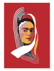 Poster Frida Kahlo Abstract