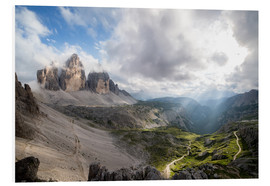 Foam board print  Dolomites-Three Peaks-Mountain Panorama - Sebastian Jakob
