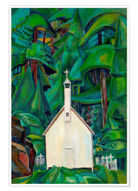 Premium poster  Indian Church - Emily Carr