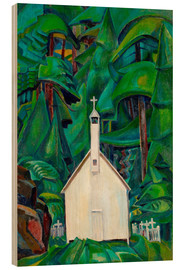 Wood print  Indian Church - Emily Carr
