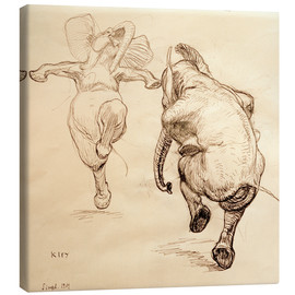 Canvas print  Two dancing elephant - Heinrich Kley