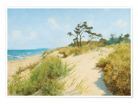 Premium poster  Beach with dunes - Hermann Seeger