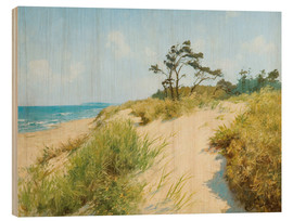Wood print  Beach with dunes - Hermann Seeger