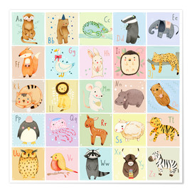 Poster Animal Alphabet German