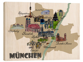M. Bleichner - Munich Map Overview Best Of Highlights