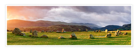 Premium poster Castlerigg Stone Circle at sunsrise