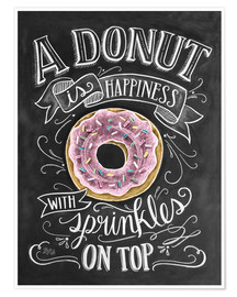Premium poster  A Donut is Happiness - Lily & Val
