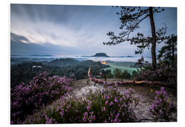 Foam board print  Sunrise Saxon Switzerland - Sören Bartosch
