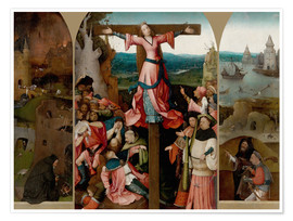 Premium poster Triptych with the crucified martyr