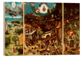 Wood print  The Last Judgement - Hieronymus Bosch