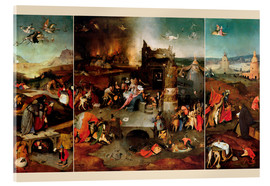 Acrylic print  Temptation of Saint Anthony - Hieronymus Bosch