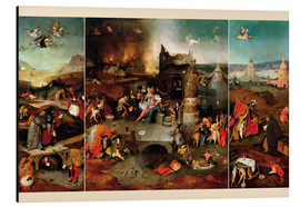 Aluminium print  Temptation of Saint Anthony - Hieronymus Bosch