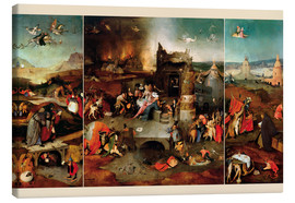 Canvas print  Temptation of Saint Anthony - Hieronymus Bosch