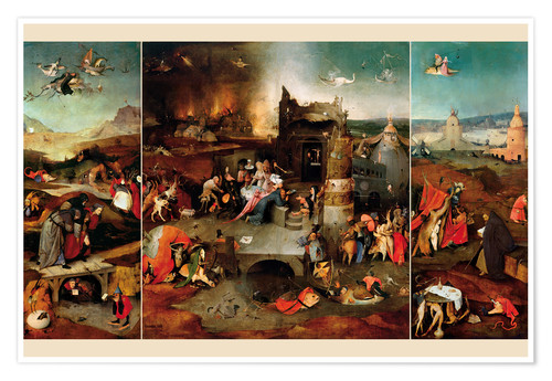 Premium poster Temptation of Saint Anthony