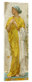 Acrylic print  Standing figure in yellow and blue, study for Topaz - Albert Joseph Moore