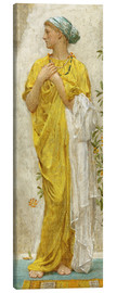 Canvas print  Standing figure in yellow and blue, study for Topaz - Albert Joseph Moore