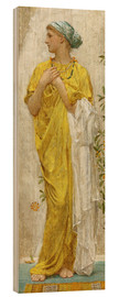 Wood  Standing figure in yellow and blue, study for Topaz - Albert Joseph Moore