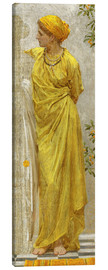 Canvas print  Standing figure in yellow and orange: Study for Topaz - Albert Joseph Moore