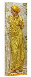 Foam board print  Standing figure in yellow and orange: Study for Topaz - Albert Joseph Moore