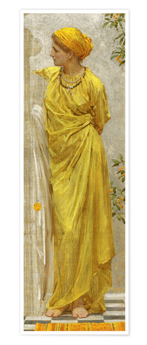 Premium poster Standing figure in yellow and orange: Study for Topaz