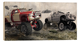 Wood print  Monster Truck Race - Kalle60
