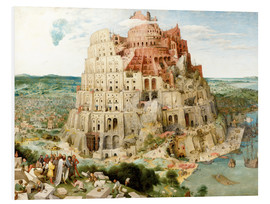 Foam board print  The Tower of Babel - Pieter Brueghel d.Ä.