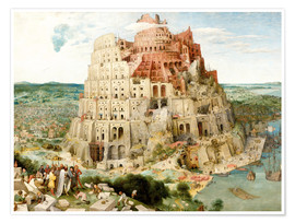 Premium poster  The Tower of Babel - Pieter Brueghel d.Ä.