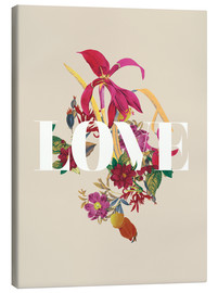 Canvas print  Exotic Love flowers botanical art - Nory Glory Prints