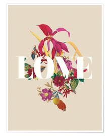 Premium poster  Exotic Love flowers botanical art - Nory Glory Prints