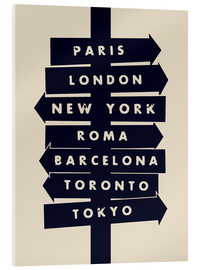 Acrylic print  City signs travel locations art print - Nory Glory Prints