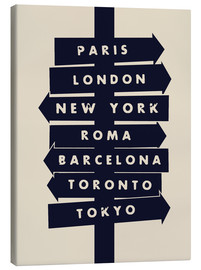 Canvas print  City signs travel locations art print - Nory Glory Prints