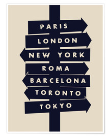 Premium poster City signs travel locations art print