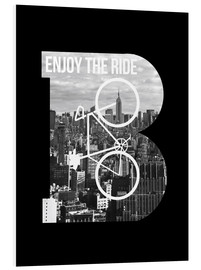 Foam board print  Enjoy the ride bicycle graphic monogram - Nory Glory Prints