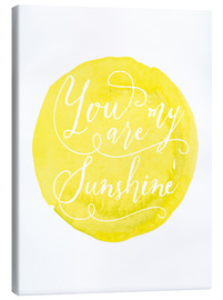 Canvas print  You are my sunshine Watercolor handmade dot art print - Nory Glory Prints
