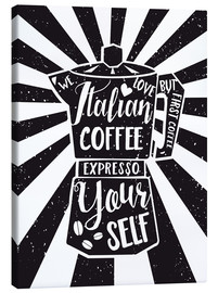 Canvas print  Italian coffee typography art print - Nory Glory Prints