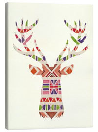 Canvas print  Ethnic native deer Ikat wild animal - Nory Glory Prints